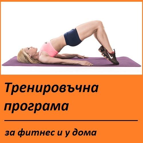 Тренировъчна програма за фитнес и у дома