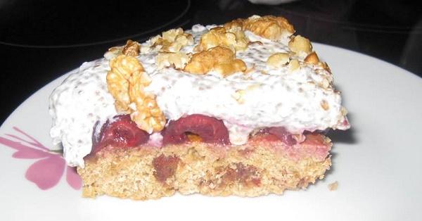 Плодова торта без бяла захар и глутен